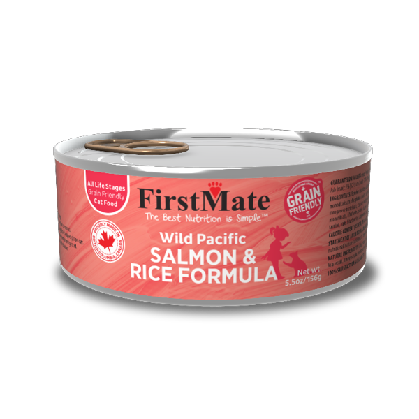 grain friendly salmon and rice formula for cats